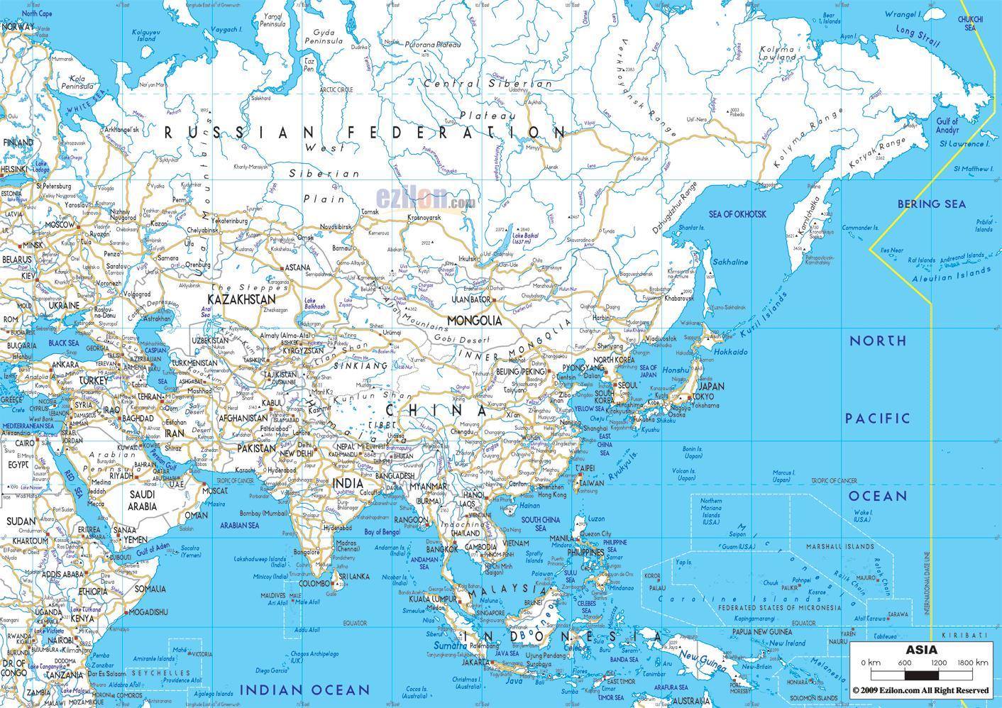 Rusia Road Map Mapa De Carreteras De Rusia Europa Del Este