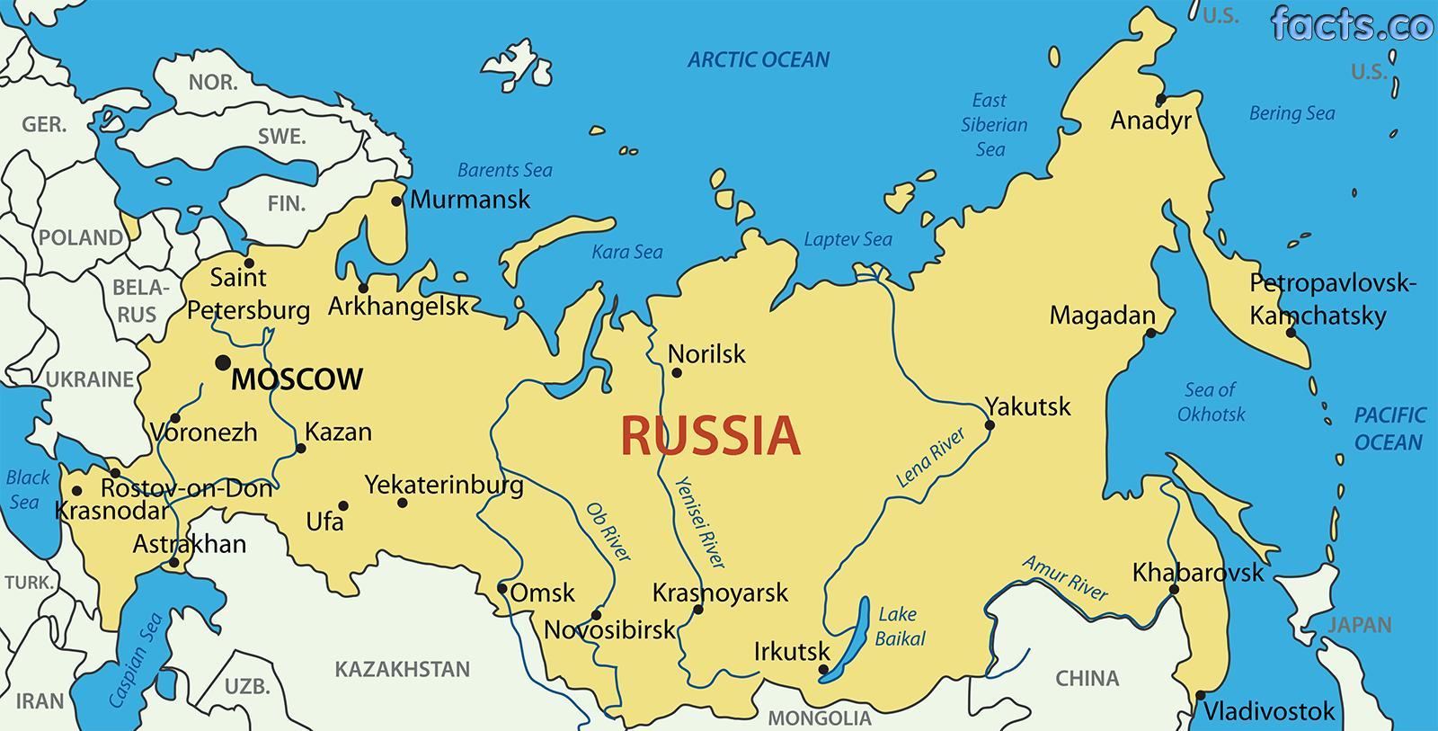 Ciudades De Rusia Mapa.Rusia Mapa De Las Ciudades De Las Ciudades De Rusia Mapa