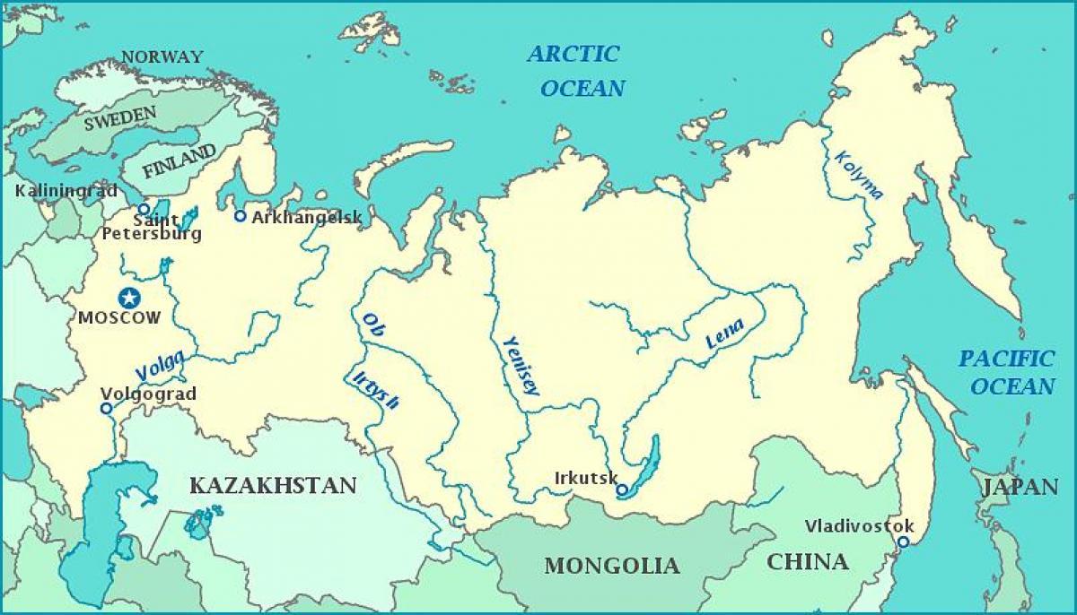 Russland Flüsse