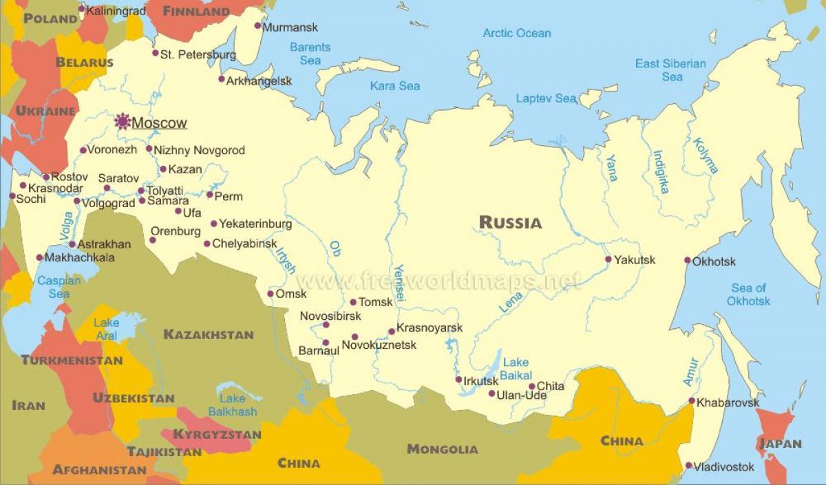 Ciudades De Rusia Mapa.Mapa De Las Ciudades Rusas Mapa De Ciudades De Rusia