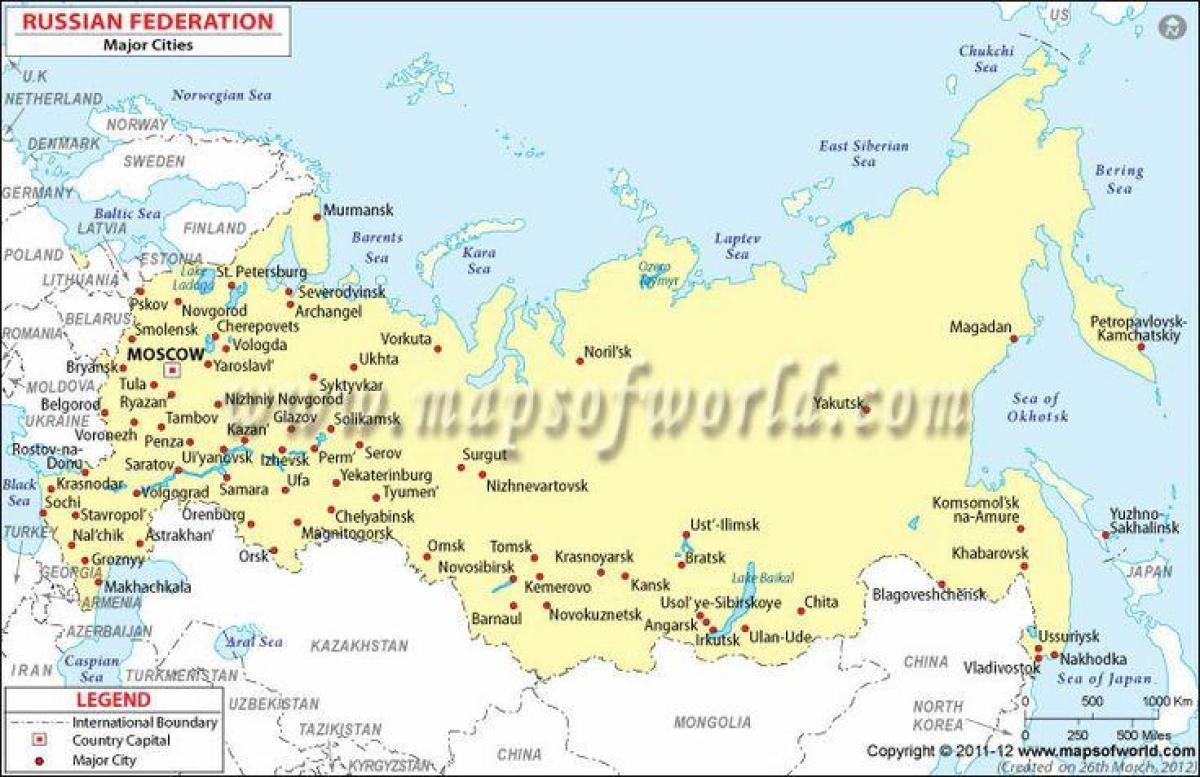 Ciudades De Rusia Mapa.Rusia Mapa Con Las Ciudades Mapa De Rusia Y Ciudades Este